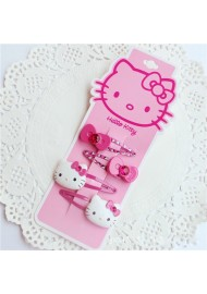 Hello Kitty Children Ribbon 4pcs Hair Clip