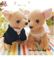 Chihuahua Dog Wedding Doll