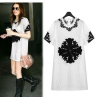 European Style Embroidered Lace Dress