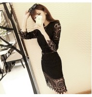 Lace Temperament Sleeve Dress