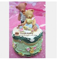 Bear Boys Happy Family Music Box