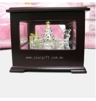 Christmas Crystal Showcase Musical Box