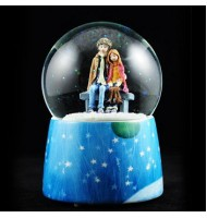 [Defect] Jimmy Winter Sonata Crystal Water Globe Music Box (CS0248)