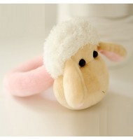 DIY Fabric Baby Hand Sheep Puppet Rattle