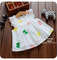 Girls Butterfly Embroidered Dress