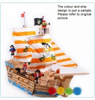Deluxe Pirate Ship 3D Wooden Puzzle (38 pieces)