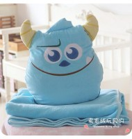 Monster Inc James Pillow & Throw Blanket