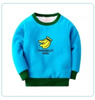 Embroidered Banana Sweatshirt Fleece Lined Pullover