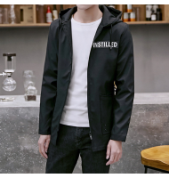 Mens Hooded Casual Jacket