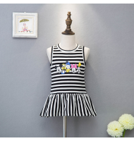 Korean Fashion Striped Children Pencil Dress