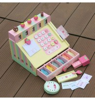 Colourful Strawberry Cash Register Wooden Toy
