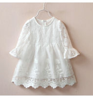 Girl Hollow Lace Princess Dress