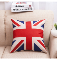 British Vintage Style Union Jack Flag Pillow Case Cover