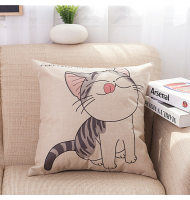 Lovely Cat Chi's Cotton Linen Pillow Case Cushion Cover