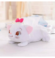 Marie Cat Plush Tissue Cover Holder