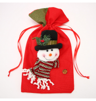 Christmas Candy Bag Snowman Ornament Props Gift