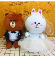 Cony & Brown Line Sitting Wedding Doll