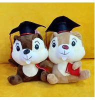 Chip & Dale Graduation Doll Plush