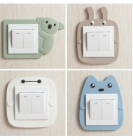 Cartoon Luminous Wall Switch Decorative Sticker