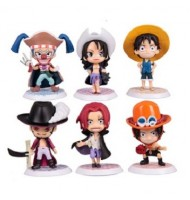 6Q of One Piece Colorful Figurine