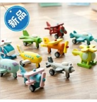 12pcs Mini Wooden Aircraft Decoration